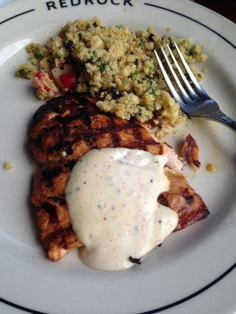 Overland Park, KS: Salmon with couscous