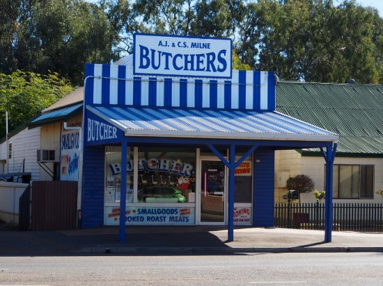 Hillston, Australia: The friendly butchers with great cheap smoked meats.