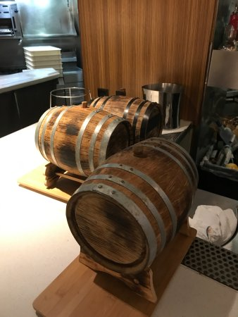 """Spago: Barrel-Aged """"Old Fashioned"""" served table side"""