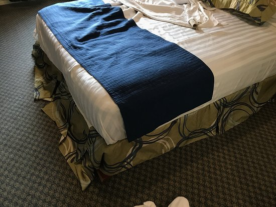 Best Western Plus Seattle/Federal Way: Bizarre Furniture And Linens That  Seemed To Be