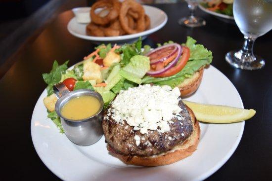Silverton, OR: Burger with bleu cheese