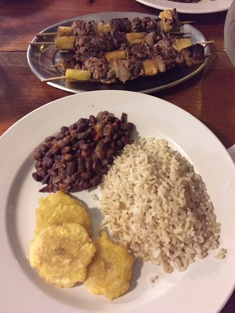 Pavones, Costa Rica: home-cooked meal on vacation - amazing!