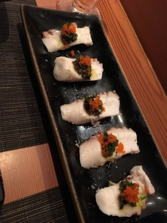 Melhor sashimi de polvo!