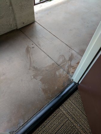 Hotel Menage: They did a great job wiping up the puke or whatever it was that occurred outside my door.
