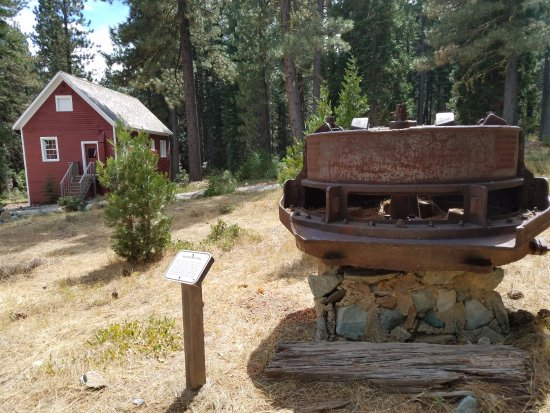 Graeagle, CA: Assay Office and more mining equipment near museum