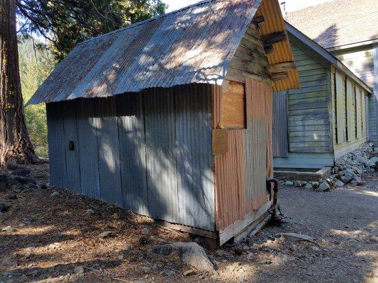 Graeagle, CA: Miner's bath house at Grass Lake ttrailhead