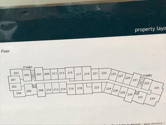 Ridgeland, MS: Diagram of 2nd floor I was in 231