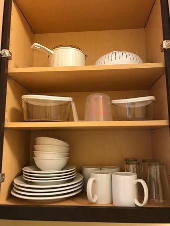 Ridgeland, MS: kitchen ware in cabinet
