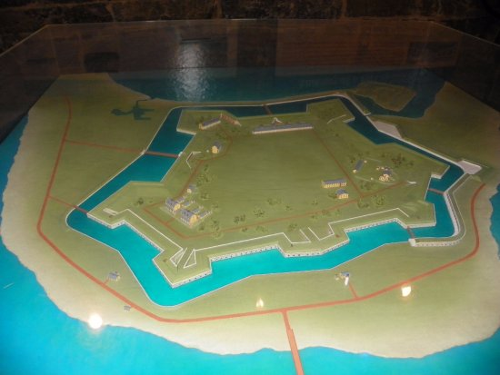Hampton, VA: Diorama of Fort Monroe