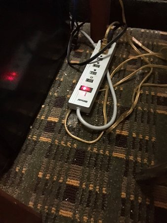 Ramada by Wyndham Levittown Bucks County: nasty carpet looks like it hasn't been vacuumed in months...