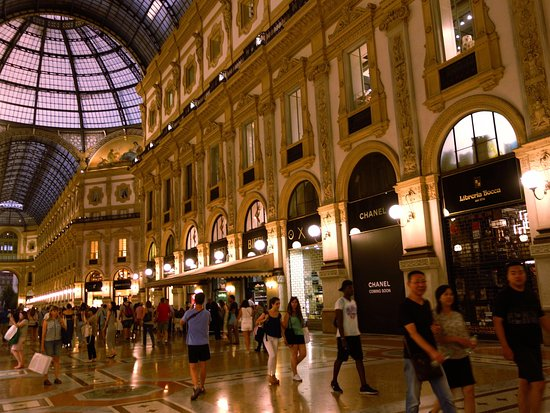Park Hyatt Milan: The Galleria is just next door - the night scene