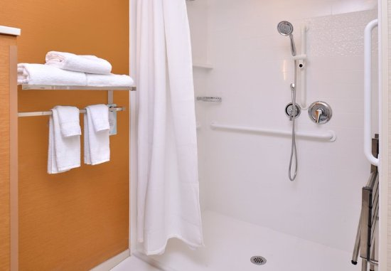 Woodland, CA: Accessible Guest Bathroom - Roll-in Shower