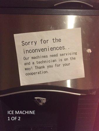 Baymont Inn & Suites By Wyndham: One-broken ice machine