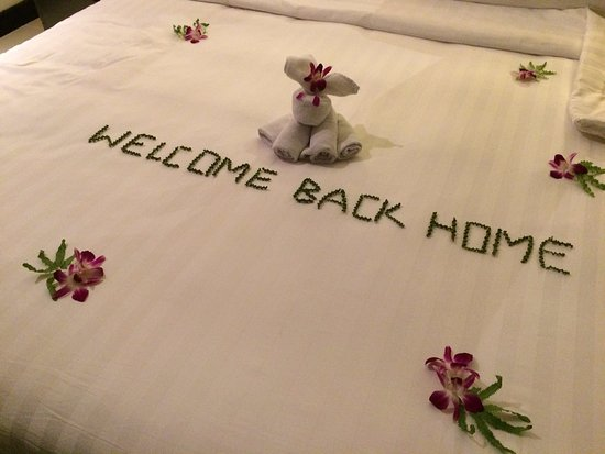 Ramada Khao Lak Resort: As returning guests we were thrilled with this lovely message at the end of a long trip!