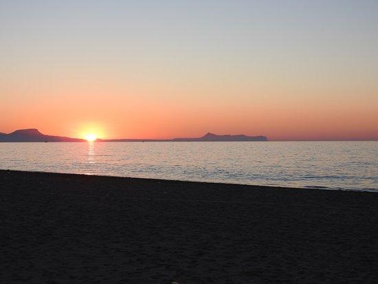 Camping Elizabeth : coucher de soleil