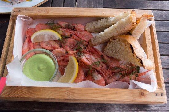 Skanor, Suécia: Shrimp in a box