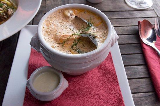Skanor, Suecia: Fish soup