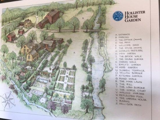 Washington, كونيكتيكت: map of the gardens and house