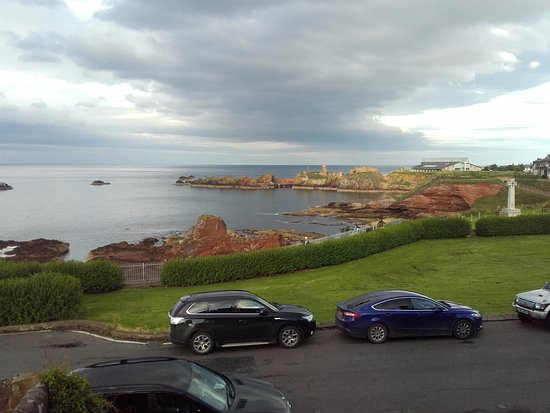 Dunbar, UK: View out of room 8 as the sun goes down