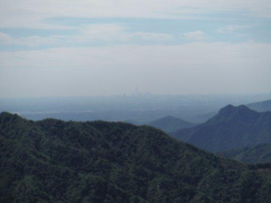 Mutianyu Great Wall: Beijing a lo lejos (70km) desde la Gran Muralla