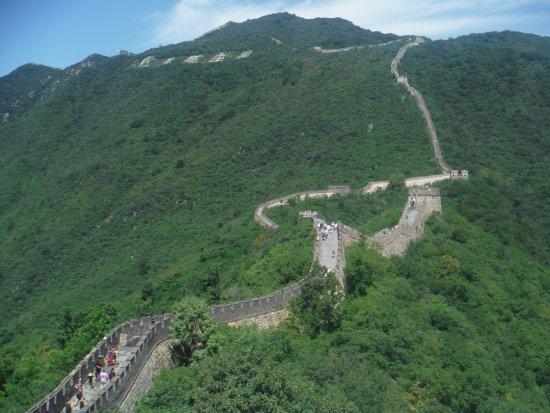 Mutianyu Great Wall: Gran Muralla desde la torre 15