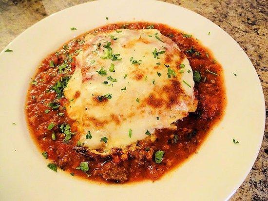 Tryon, NC: watery sauce with lasagna