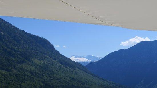 G'sund & Natur Hotel DIE WASNERIN: Aussicht Dachterrasse Richtung Dachsteinmassiv