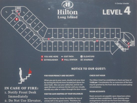Melville, Nova York: Diagrama dos quartos