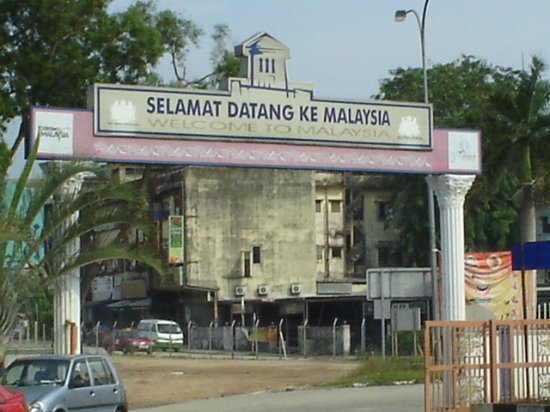 Sultan Abu Bakar State Mosque: ...a welcoming Greeting in the street of Johor Bahru