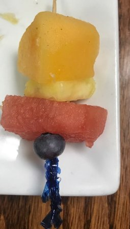 """Lake Ozark, MO: This is the """"side of fresh fruit"""" at Blueberries Bistro. Don't come here hungry!"""