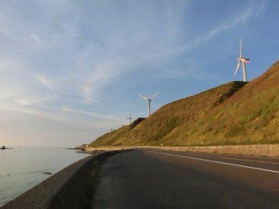 Rumoi, Japan: 風車と日本海