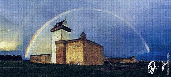 Narva Knights' Fortress: Нарвский замок (оригинальное фото: Антон Вылиток)