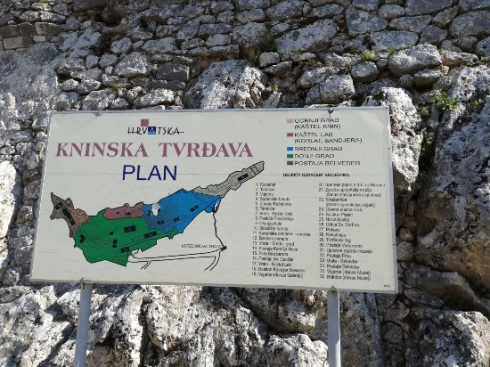 Knin Fortress: site map