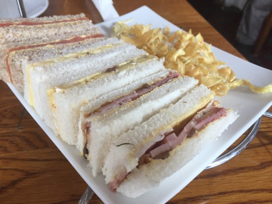 Two Bridges, UK: Sandwiches as part of afternoon tea