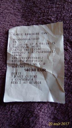 Trelissac, France: ticket séjour 1nuit ,2 pdj , 2 diners .( plats et dessert)