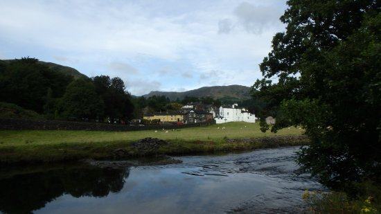 Patterdale, UK : view of the back of the white lion