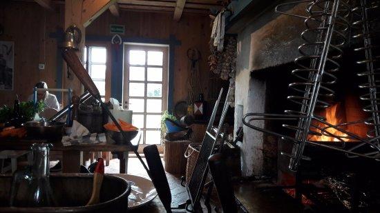 Vente, Lithuania: Inside of the restaurant