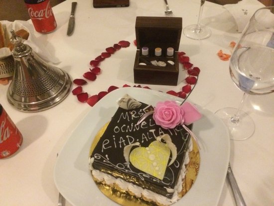 Riad Altair: Special birthday cake - was scrummy!