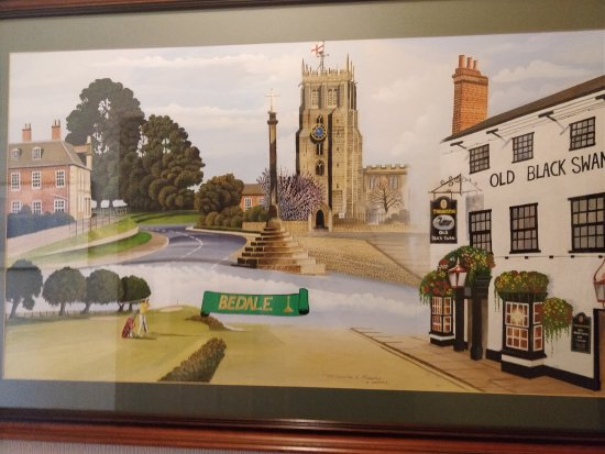 Bedale, UK: A lovely painting we found upstairs