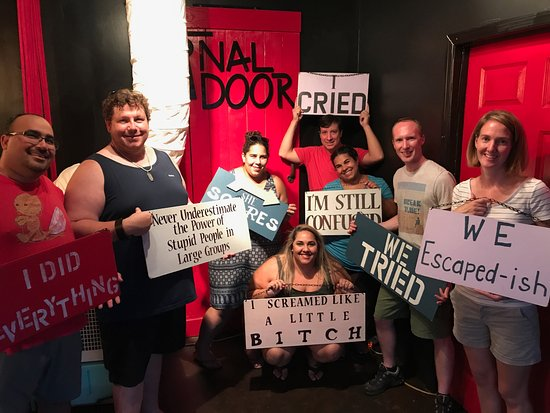 The Final Door Escape Room Columbia We blame our loss on girl to the left  sc 1 st  TripAdvisor & The Final Door Escape Room - Picture of The Final Door Escape Room ...