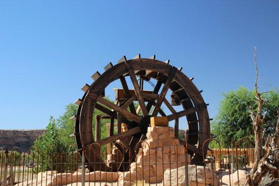 Bluff Fort Historic Site: la roue à eau pour les chercheurs d'or