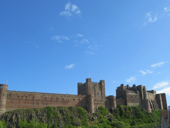 Bamburgh Castle from the bus stop