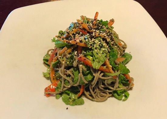sprig and vine: Soba Noodle and Baby Arugula Salad
