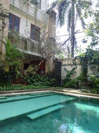 Maharani Beach Hotel: Giardino bordo piscina