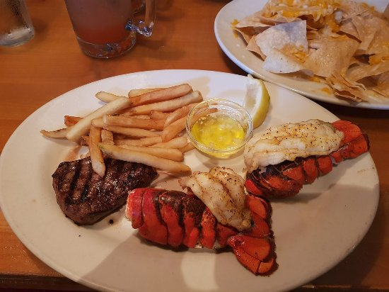 Black Angus Restaurant: Lobster, Ribeye, french fries