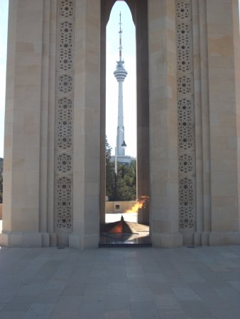 Eternal Flame with the TV Tower in view - Picture of Martyrs