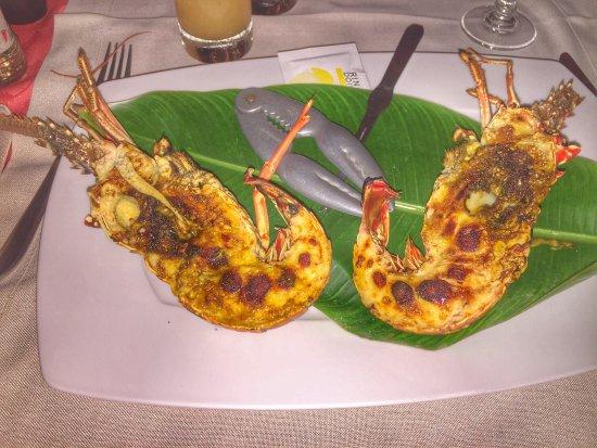 Marie-Galante, Guadeloupe: Langoustes grillées