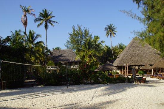 Michamvi, Tansania: Restaurant und Volleyballplatz