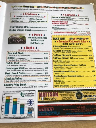Mora, MN: Menu-  everything looked amazing for a small town cafe! If your looking for a good breakfast or