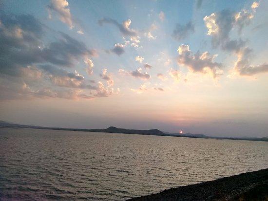 Gangapur Dam: beautiful sunset